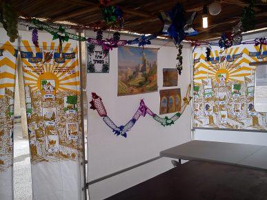 Inside our Sukkah