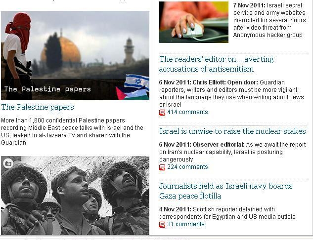 Guardian Middle East Page
