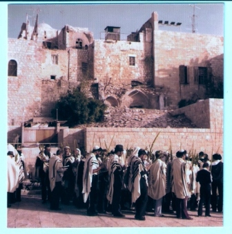 Tefila on Sukkot in Jerusalem