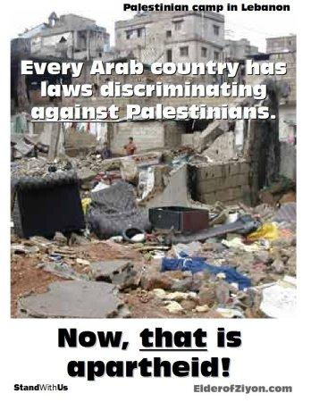 Arab Apartheid against Palestinians