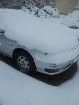 The same car after overnight snowfall