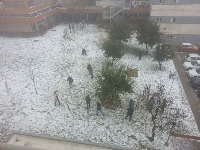 Ariel University in the snow