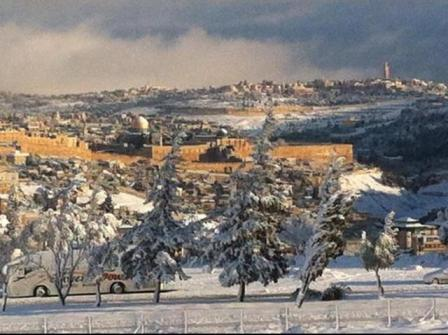 Snowy Jerusalem (Via Via Stand with Us Twitter feed
