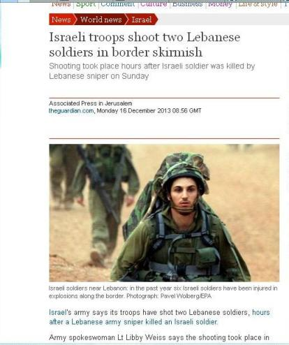 According to the Guardian, Israel hits back first