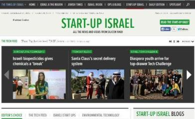 Start-Up Israel site, run by the Times of Israel