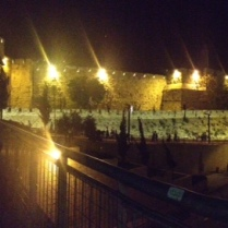 Panoramic view of the Old City walls