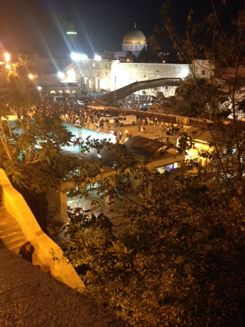 The kotel from above