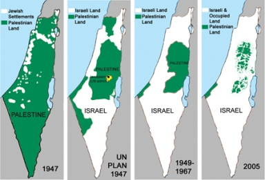 Shrinking Palestine Lie