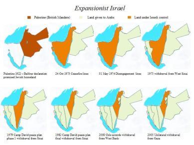 Shrinking Israel maps