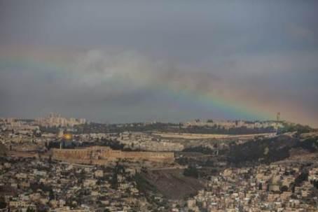 Jerusalem rainbow