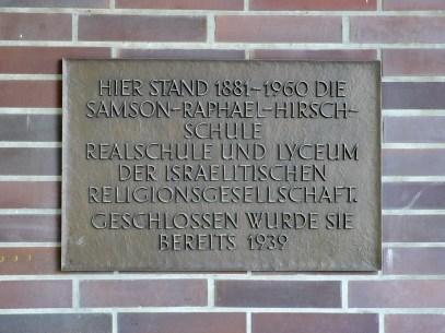 Hirsch realschule memorial plaque