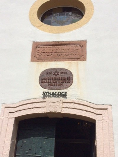 Michelstadt shul entrance plaque