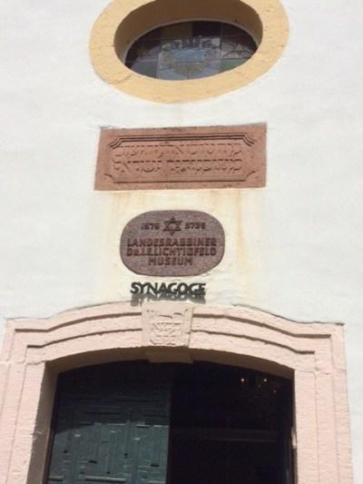 Michelstadt shul entrance plaque