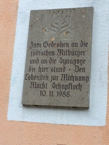 Schopfloch Shoah memorial