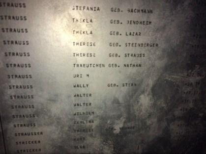 Uri Strauss Frankfurt memorial board