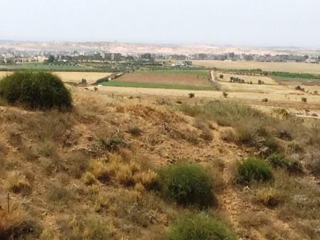 Lookout point in memory of Asaf Siboni, view of Gaza from Kibbutz Nir Am