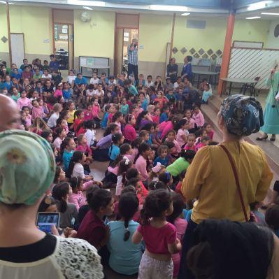 First graders in Karnei Shomron school